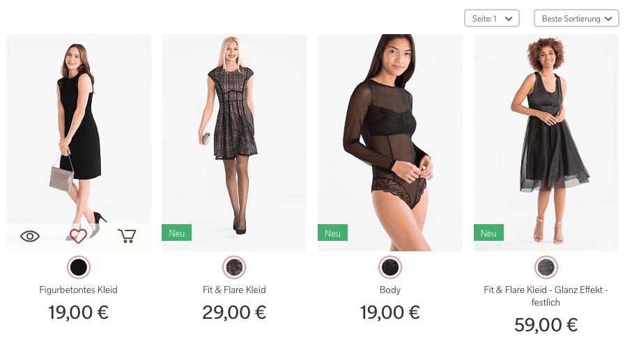C und a kleider online